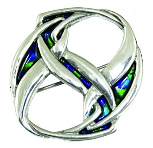 Enamelled Brooch Twist Knot